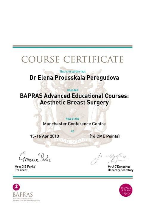 BAPRAS Breast 2013