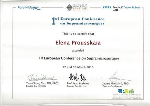 Supermicrosurgery 2010